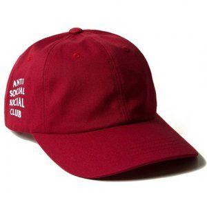 Anti Social Social Club Red Dad Cap